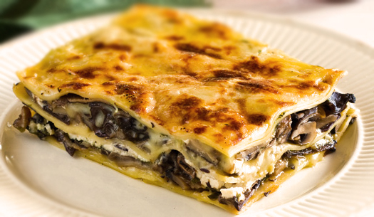 Cheese and Mushroom Lasagna | www.vegetarian lasagna.net